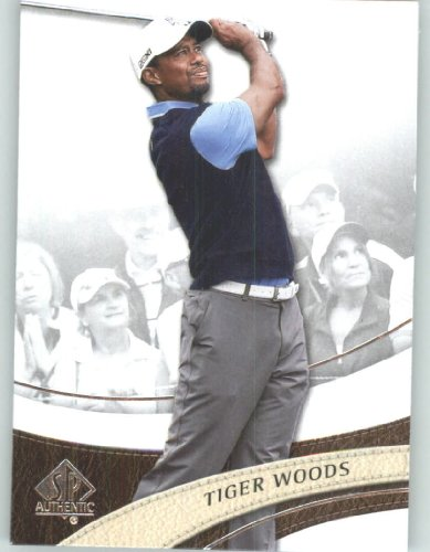 (2014 SP Authentic Golf #1 Tiger Woods - PGA Tour Golfer (Sports Trading Cards))