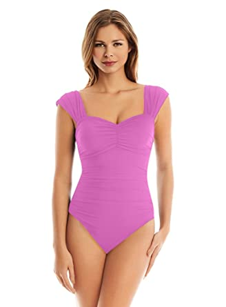 9f21716b813 Image Unavailable. Image not available for. Color: Magicsuit Women's Magic  Solids Natalie One Piece ...