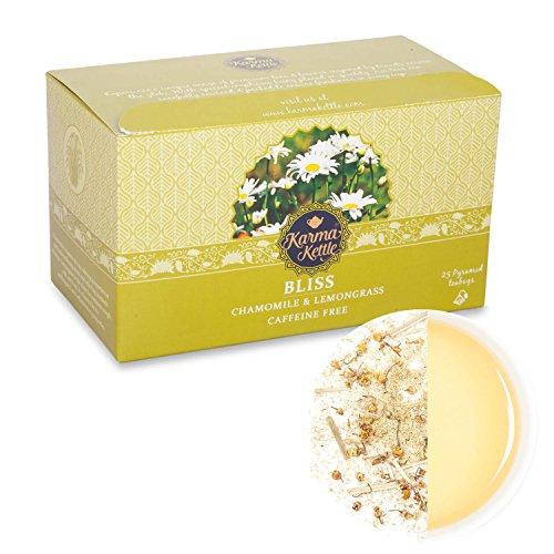 Bliss-Chamomile & Lemongrass, Herbal tea, Natural detox, Caf