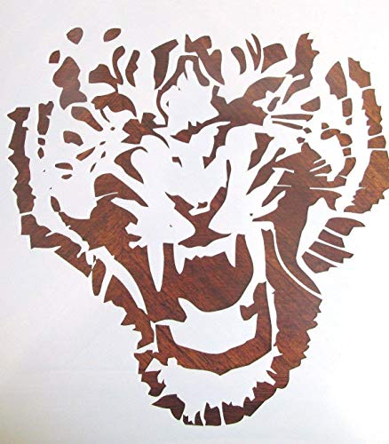 OutletBestSelling Reusable Sturdy Growling Tiger Stencil Template Reusable 10 - Tiger Growling