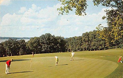 Overlooking Lake Mendota Black Hawk Country Club Madison, Wisconsin, WI, USA Old Vintage Golf Postcard Post Card