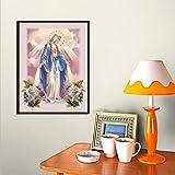YaYiYo Diamond Painting DIY Full Drill Christian Jesus Virgin Mary Living Room Home Decor Religious Gift Painting
