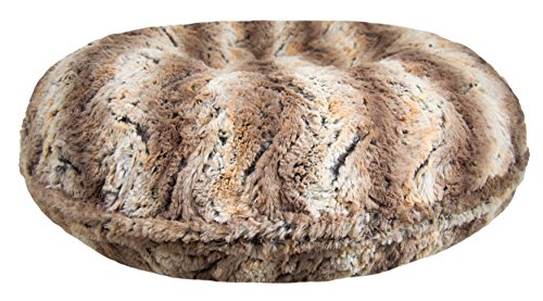 BESSIE AND BARNIE Signature Serenity Grey Luxury Extra Plush Faux Fur Bagel Pet/Dog Bed (Multiple Sizes)
