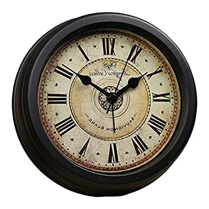Amazoncom Brandream Luxury Vintage Small Wall Clock Classic Desk
