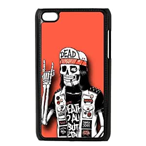 TOSOUL Skull Art 6 Phone Case For Ipod Touch 4 [Pattern-6]