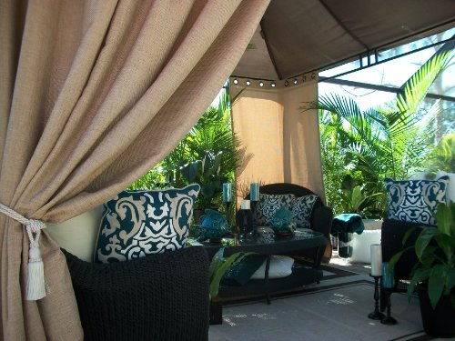 Patio Pizazz, Beautiful Indoor Outdoor Patio Drapes, Gazebo, Pergola, Mango Island Collection (54