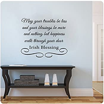 Amazon Com 30 Quot Old Irish Blessing Wall Decal Sticker May