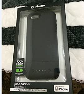 iPhone 5 Rechargeable External Battery 2100mAh Snap-on Case - AT&T, Sprint, Verizon, T-Mobile - Black