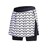 beroy Women Quick Dry and Breathable Cycling Skirt Shorts,Bike Skorts Pantskirt With 3D Padded(BL,M)
