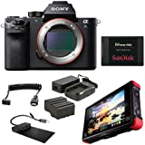 Sony Alpha a7S II Mirrorless Digital Camera (Body Only) with Atomos Ninja Flame 7 Recording Monitor, Power Kit, HDMI Cable, 480GB SSD and Powered Docking Station Docking Station
