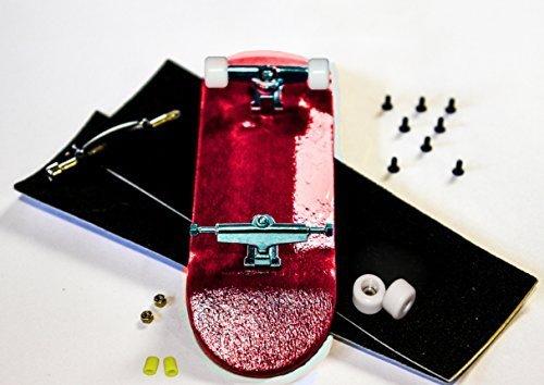 Diamondkey D8 Complete: Red Wooden Fingerboard Deck w/