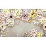Carta Da Parati 3D Fotomurali Farfalla Fiore Perla Camera da Letto Decorazione da Muro XXL Poster Design Carta per…