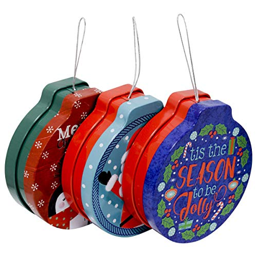 Christmas Gift Card Holders Tin Money Holder with String, Holiday Designs and Sayings, Ornamental Tins for Gift Giving on Xmas (Set of 9) (Xmas Cards Ideas)