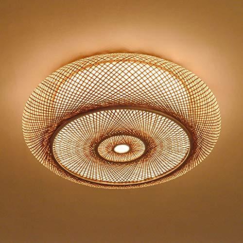 (Pendant Lights Ceiling Japanese Chandelier Bamboo Woven Southeast Asian Restaurant Cafe E27 Ceiling Lamp Living Room Bedroom Decoration Chandeliers (Size : Diameter 35cm) )
