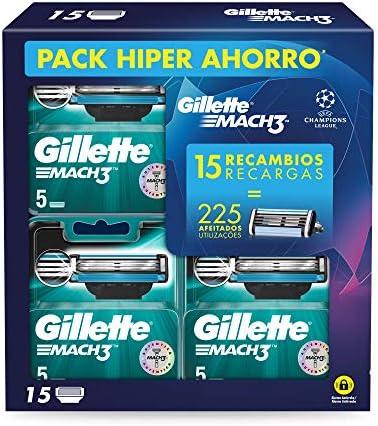 Gillette Mach3 - Cuchillas de Afeitar, Pack Ahorro Champions ...