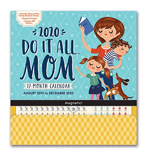 Orange Circle Studio 2020 Do It All Magnetic Wall Calendar, August 2019 - December 2020, Moms Do it All