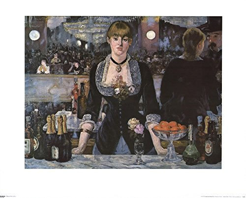 Bar At The Folies Bergere By Edouard Manet Art Print  30 X 24 Inches