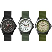 Dakota Watch Company - Mens Dimensional Field Watch - - Black/Black