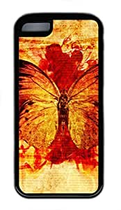 iPhone 5c case, Cute Dead Animals Butterfly iPhone 5c Cover, iPhone 5c Cases, Soft Black iPhone 5c Covers