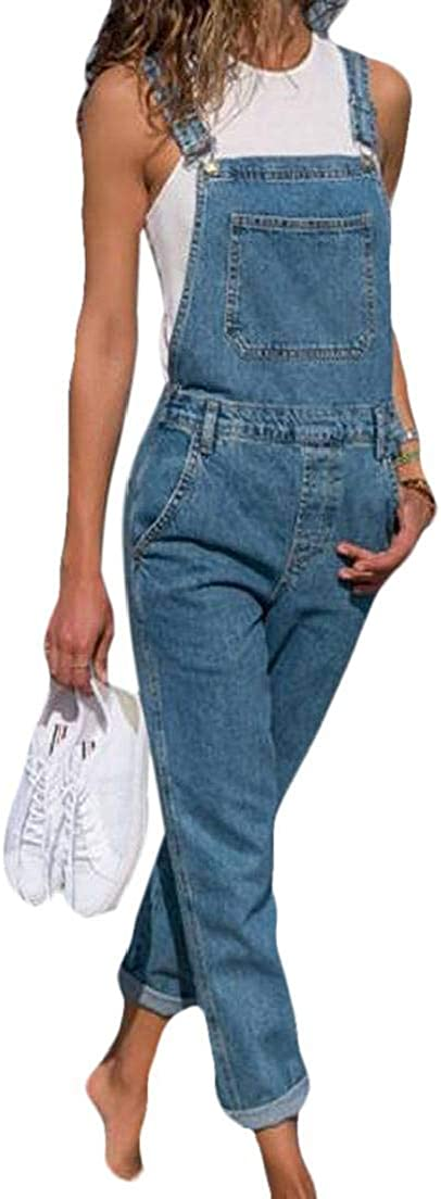 Fubotevic Womens Casual Jeans Jumpsuits Ripped Holes Denim Overalls