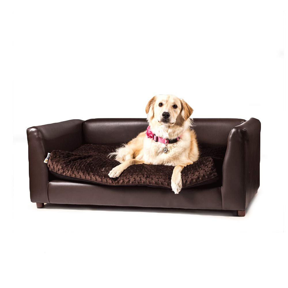 Keet Fluffly Deluxe Pet Bed Sofa Chocolate Large by Keet