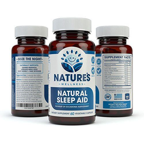 Natural Sleep Aid for Adults by Nature's Wellness, 60-Count | 100% Herbal Remedy Sleeping Pills, Safe & Effective Natural Insomnia Relief Supplement | Non-Habit Forming Blend Allows Deep Sleep & Rest by Natures Wellness (Image #8)'