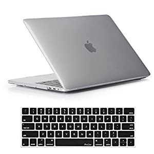 MacBook Pro 13 Case 2017 and 2016 Release A1706/A1708, ProCase Hard Case Shell Cover and Keyboard Skin Cover for Apple Macbook Pro 13 Inch with/without Touch Bar and Touch ID -Crystal