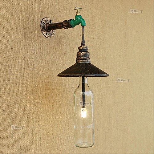 GGRXA Vintage Style moderne Lampe Applique murale vintage en plein ...