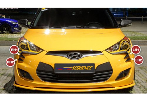 Sequence Front Head Lamp Devil 39 S Claw Point Molding 4 Pc Set For 2011 2012 2013 Hyundai Veloster