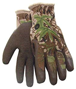 All Purpose Camouflage Gripper Outdoor Hunting Camo Glove, 397AP, Size: Large