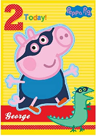 Amazon.com: Gemma International Peppa Pig George 2 Tarjeta ...