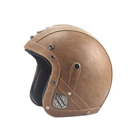 CARACHOME Casco Moto Integral· Casco Moto Vintage, Estilo ...