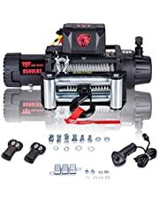 TYT New 9500 lb. Advanced Electric Winch T1 Series, 12V Waterproof IP67 Recovery Winch with Hawse Fairlead, Steel Cable Truck Winch with Wireless Handheld Remote and Overload Protection(9500-Cable)