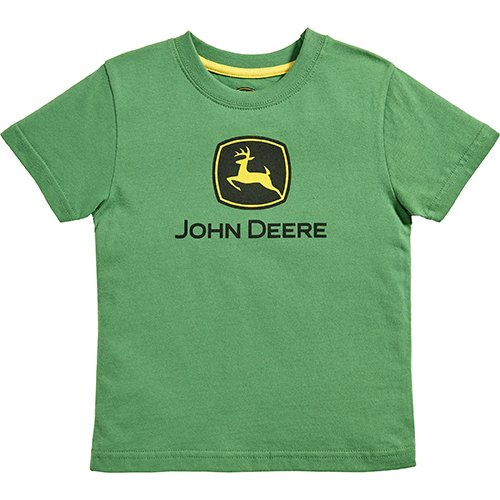 John Deere Little Boys Short Sleeve Logo Tee, Green, 7