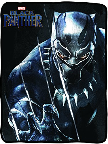 Licensed Spider Officially - Marvel Black Panther Fleece Blanket - Officially Licensed Marvel Black Panther Movie Soft Silk Throw Bed Blanket