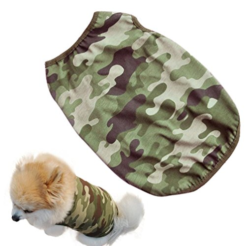 Small Dog Shirt, Voberry Fashion Pet Puppy Clothes Classic Army camouflage Cotton Costumes Pet Dog Cat Cute T Shirt (XS)