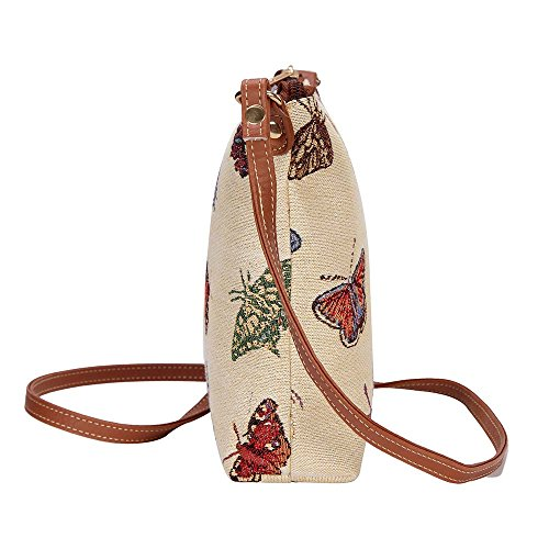 Bag Women Sling Cross Tapestry New Signare Satchel Lightweight Butterfly Body pwqWExS68v