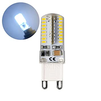 Crewell 10pcs G9 5W LED 3014 64SMD Pin Base LED Bombilla Equivalente a 40W Bombillas Halógenas