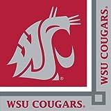 20-Count Paper Beverage Napkins, Washington State Cougars