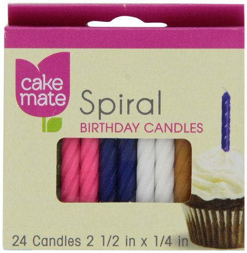 Cake Mate Spiral Candles, 24
