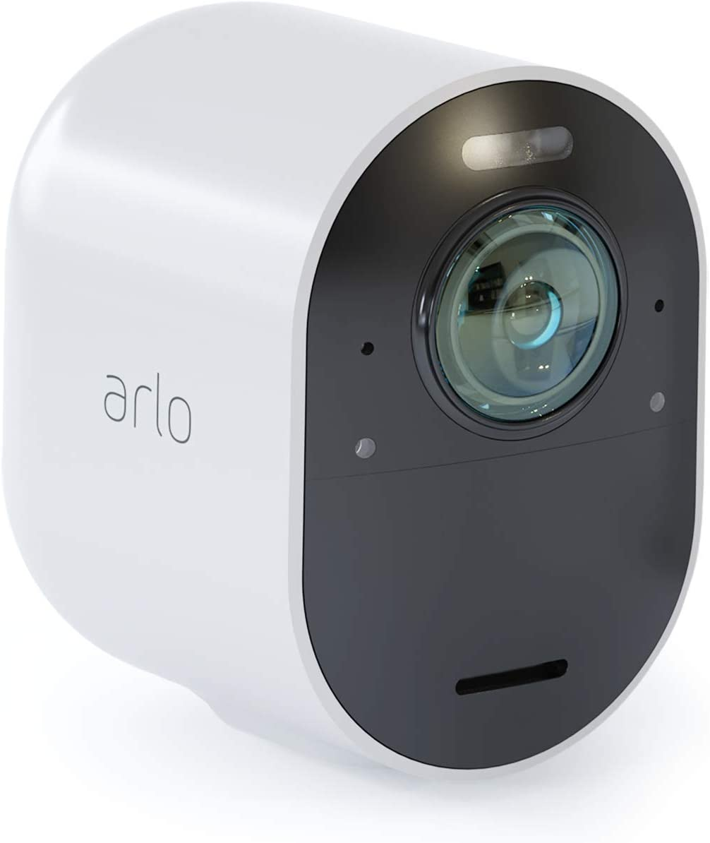 Arlo Ultra Home Security Camera System| 4K UHD Wire-Free with HDR, Color Night Vision, 180° View, 2-Way Audio, Spotlight, Siren | Add-on Camera (Requires Arlo Smart Hub - Sold Separately) (Renewed)