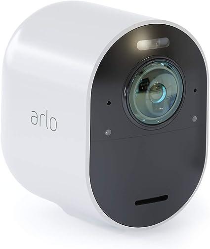Arlo Ultra 4K - Cámara adicional Smart (recargable, libre de cables con visión diurna/nocturna, funciona con Amazon Alexa), necesita Smarthub: Arlo: Amazon.es: Electrónica
