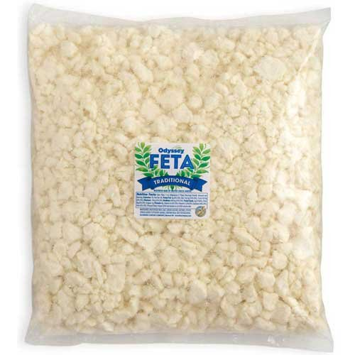 Odyssey Traditional Crumbled Feta Cheese, 5 Pound - 4 per case. by ODYSSEY