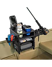 Boat Tote All-in-One Boat Accessories Organizer - Boating, Fishing Accessory, Rod and Gear Holder for Jon Boats, Kayaks, Cartoppers