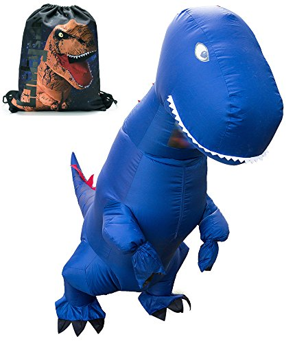 LUCKYSUN Adult Dinosaur shape Inflatable Costume T-rex Pterosaur Scale With Exclusive Drawstring Bag -