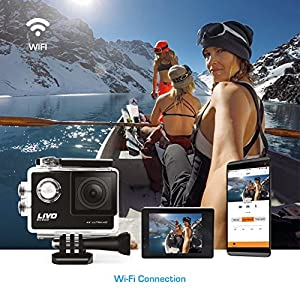 LIVO SC500 4K Sports Action Camera with WiFi, 16MP Wide Angle Lens and Sony Image Sensor