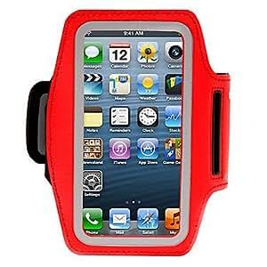 compra Solf cinta roja brazalete deportivo para el iphone 5 , Rojo