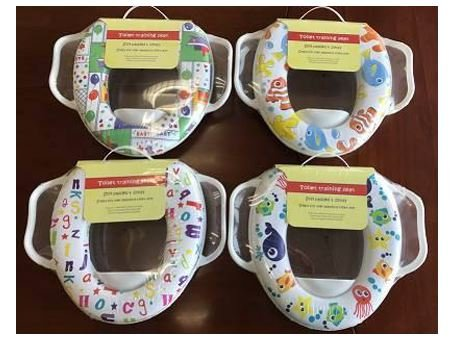 Baby Soft Padded Potty Training Toilet Seat with Handles Padded Soft Kids Trading Innovation