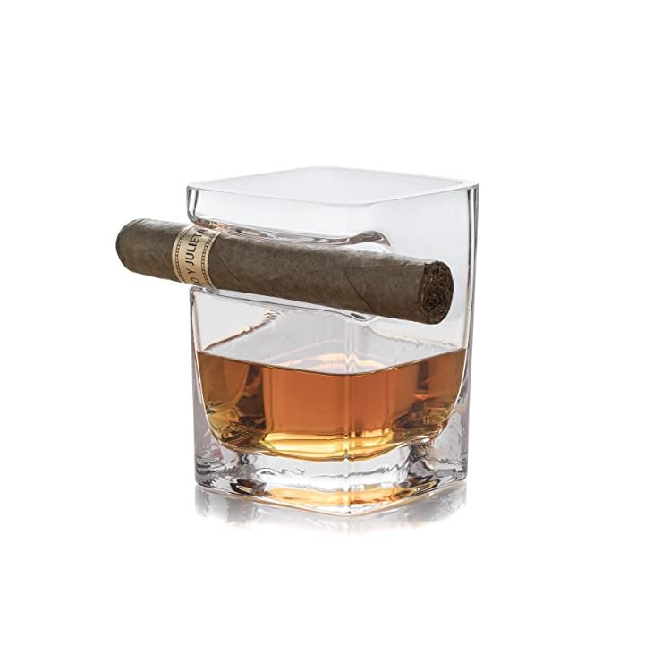 Whiskey Glass Cigar Holder for Whisky