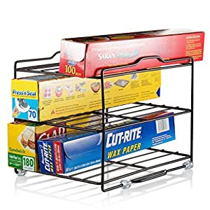 kitchen wrap storage rack kitchen wrap organizer rack cabinet 6581